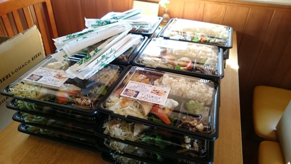 たくさんのお弁当