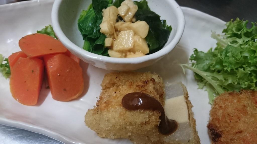 大根と高野豆腐のフライ