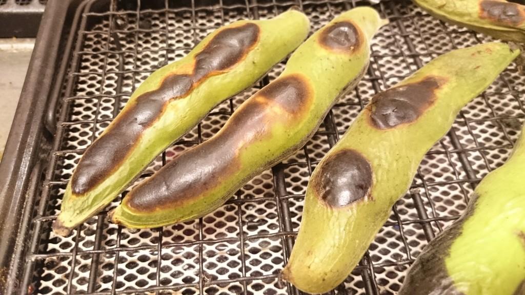 空豆の真っ黒焼き