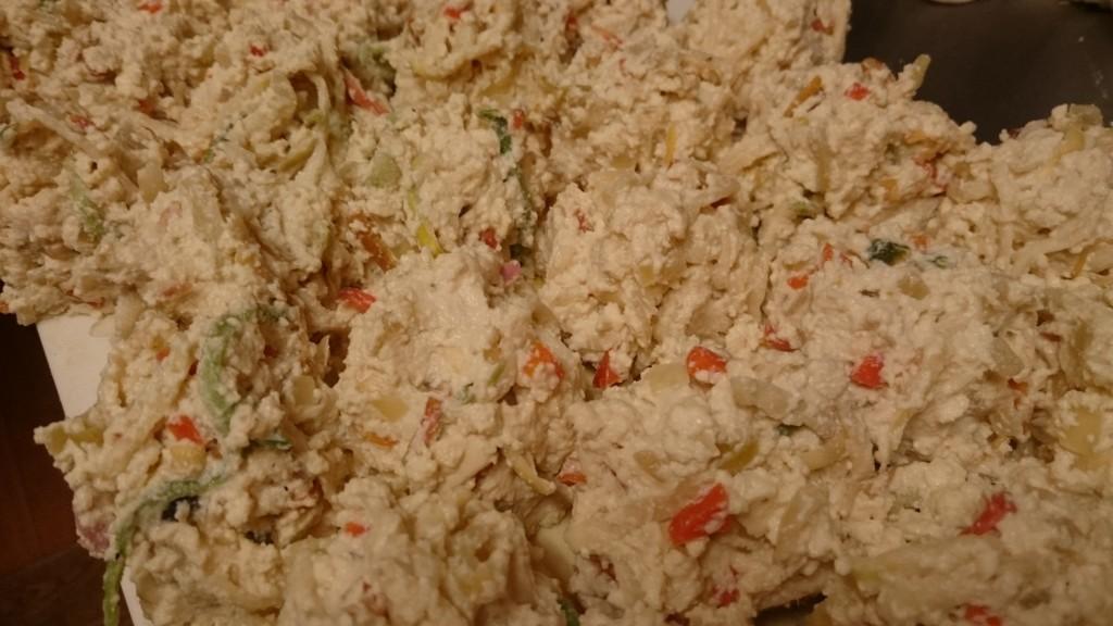 切干大根とお豆腐でバーグ