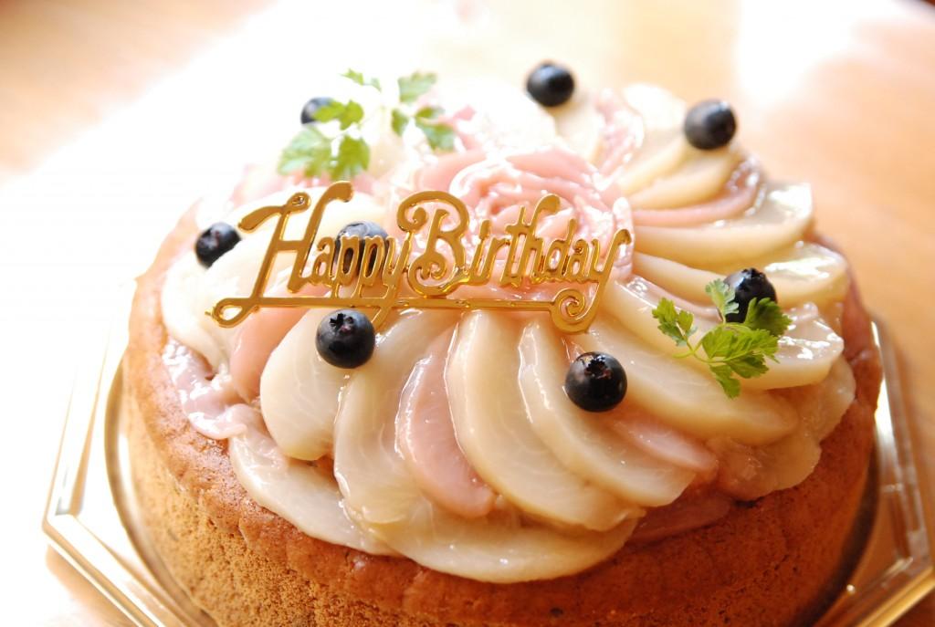 世界に一つ!卵・乳不使用グルテンフリーのオーダーお誕生日ケーキ