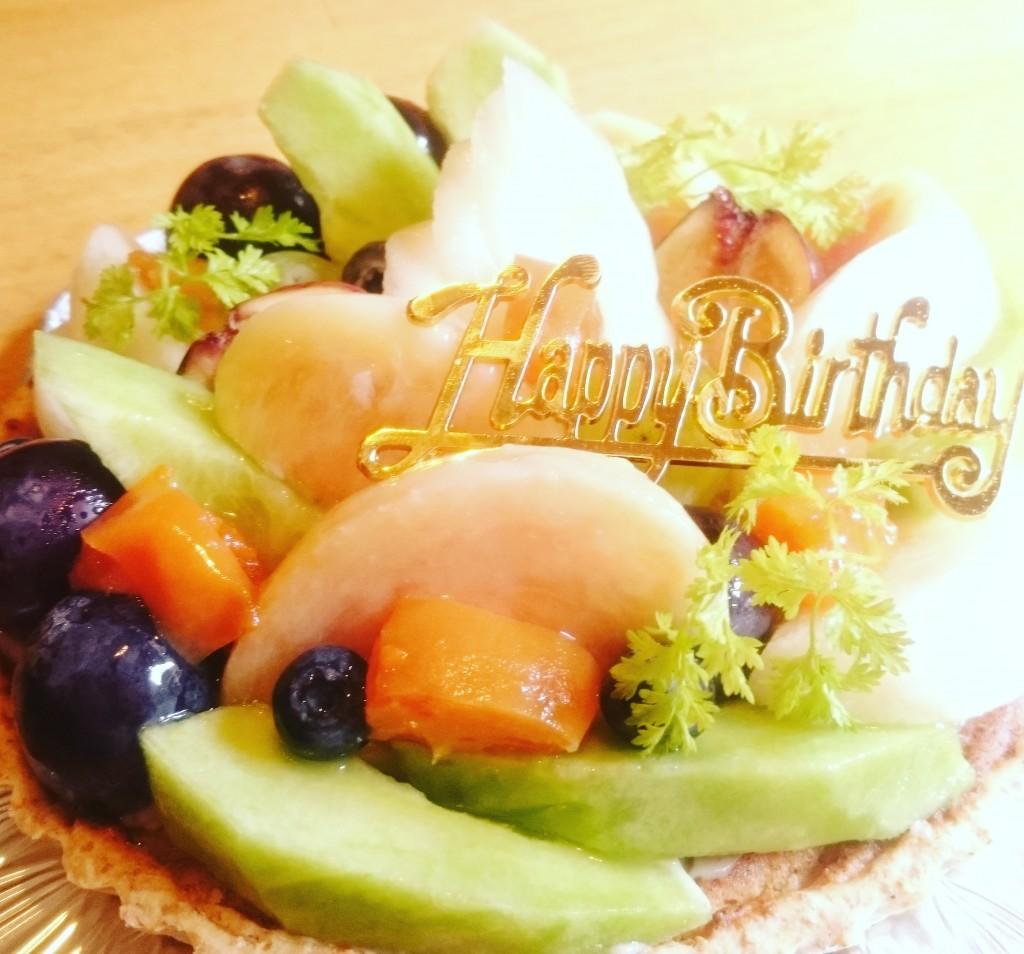 卵・乳製品・白砂糖不使用 フルーツもりもり お誕生日タルト