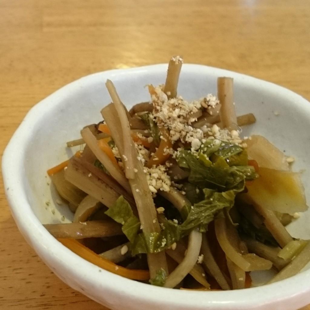 根菜のきんぴらアレンジ/セロリの葉っぱ活用