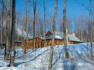 メープルシロップ小屋でケベック郷土料理を