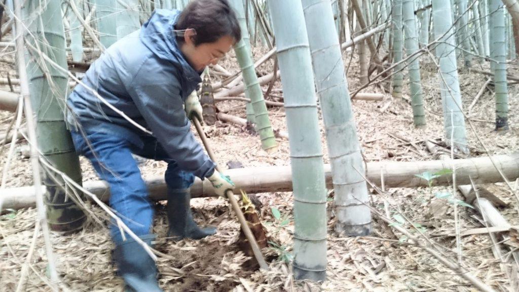 竹の子掘りへGO!