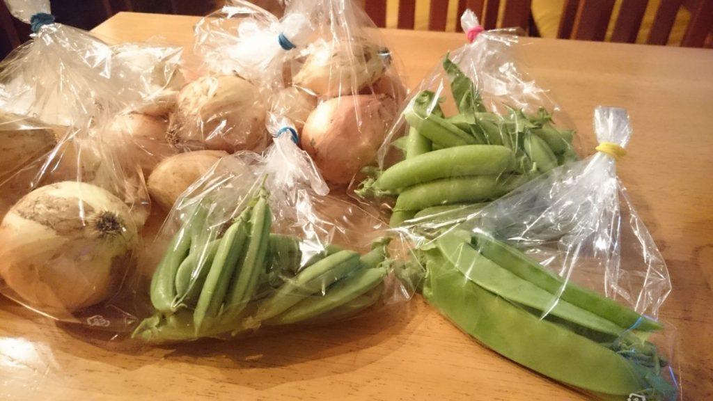 みのり農縁さんのお野菜届きました・豆ごはん